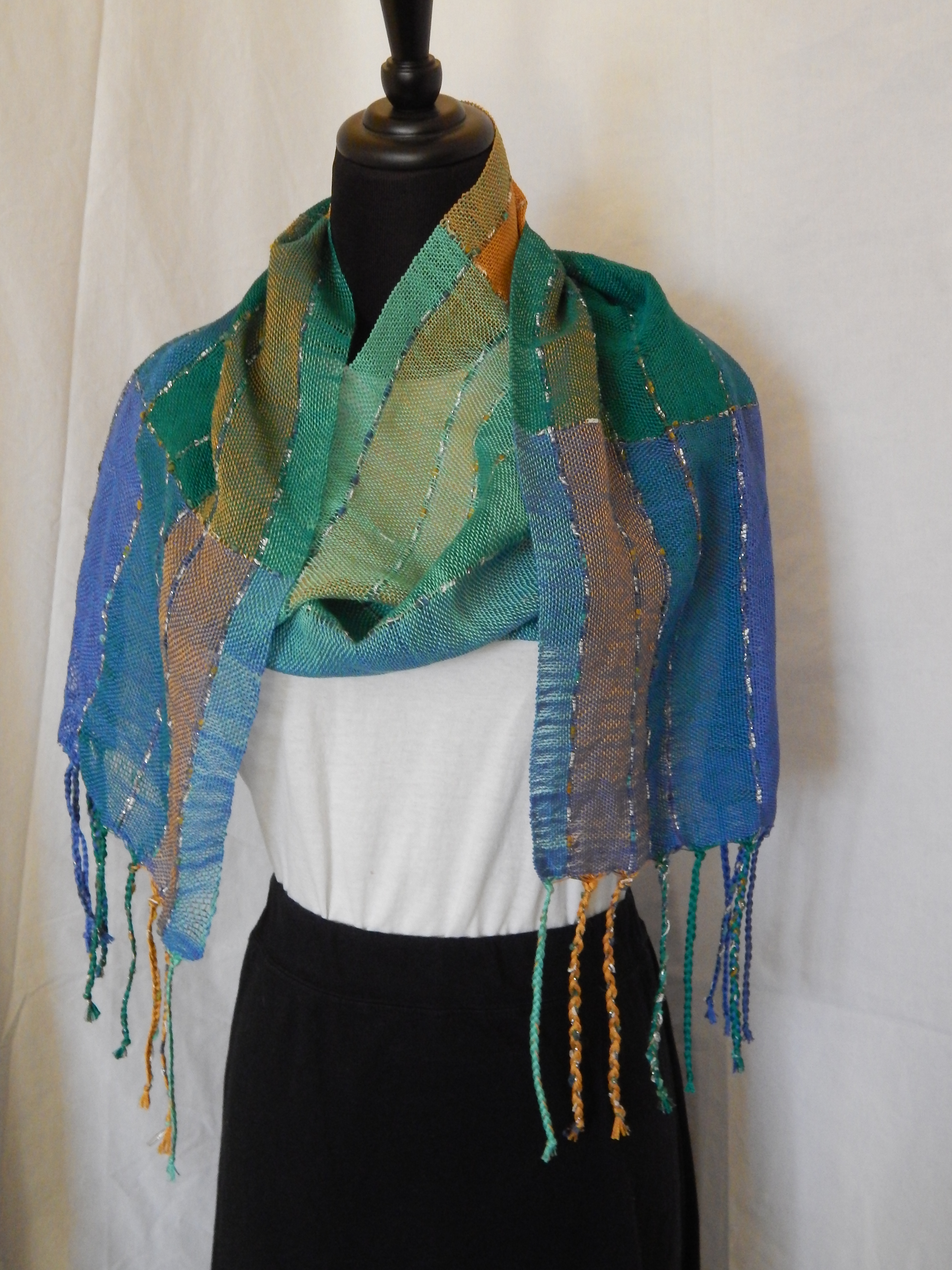 Blue Green Scarf